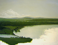 Painting tutorial for 'River Through the Adirondack's' by John O'Keefe Jr. - Day 4