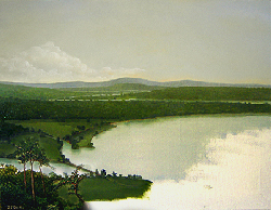 Painting tutorial for 'River Through the Adirondack's' by John O'Keefe Jr. - Day 5