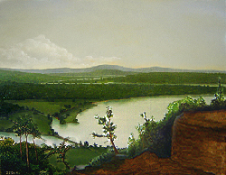 Painting tutorial for 'River Through the Adirondack's' by John O'Keefe Jr. - Day 6