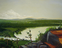 Painting tutorial for 'River Through the Adirondack's' by John O'Keefe Jr. - Day 7