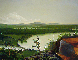 Painting tutorial for 'River Through the Adirondack's' by John O'Keefe Jr. - Day 8