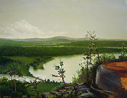Painting tutorial for 'River Through the Adirondack's' by John O'Keefe Jr. - Day 9
