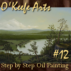 Step-By-Step Tutorial: Painting 'River Through the Adirondack's' by John O'Keefe Jr.