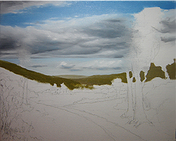 Painting tutorial for 'Summer on the Valley' by John O'Keefe - Day 2 Hour 9