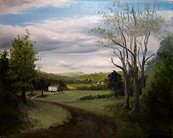 Painting tutorial for 'Summer on the Valley' by John O'Keefe - Day 3 Hour 15