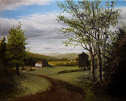 Painting tutorial for 'Summer on the Valley' by John O'Keefe - Day 3 Hour 16