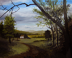 Painting tutorial for 'Summer on the Valley' by John O'Keefe - Day 3 Hour 17