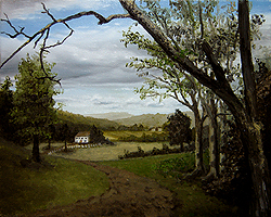 Painting tutorial for 'Summer on the Valley' by John O'Keefe - Day 4 Hour 18