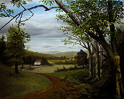 Painting tutorial for 'Summer on the Valley' by John O'Keefe - Day 4 Hour 20