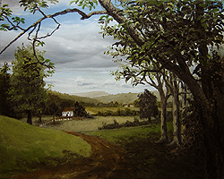 Painting tutorial for 'Summer on the Valley' by John O'Keefe - Day 4 Hour 22