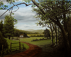 Painting tutorial for 'Summer on the Valley' by John O'Keefe - Day 5 Hour 23