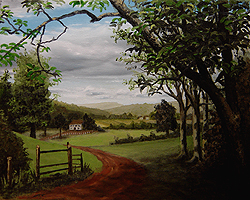 Painting tutorial for 'Summer on the Valley' by John O'Keefe - Day 5 Hour 24