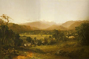 Painting tutorial for 'Summer on the Valley' by John O'Keefe - reference painting 'The White Mountains' by John Kensett