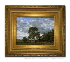 Finished oil painting with frame: 'The Field's Edge' by John O'Keefe Jr.