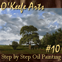 Step-By-Step Tutorial: Painting 'The Fields Edge' by John O'Keefe Jr.