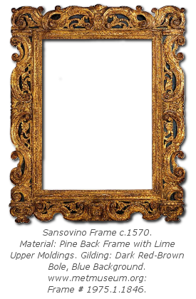 Mannerist Frame History - Sansovino Frame