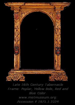 Renaissance Frame History - Tabernacle Frame