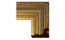 "Neoclassical: 2nd Empire Style Frame 2EMP006 (Moulding Width: 4-1/4"", Depth: 2-3/4""; Rabbet Width: 1/4"", Depth: 3/8"") preview image"