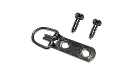 "D-Ring Hanger: 2 Hole, 3/8"" Wide Strap, Corrosion Resistant Plated Steel, Maximum Hanging Weight: 20 lbs, D-RING002 preview image"