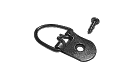 "D-Ring Hanger: 1 Hole, 5/8"" Wide Strap, Corrosion Resistant Plated Steel, Maximum Hanging Weight: 20 lbs,  D-RING006 preview image"