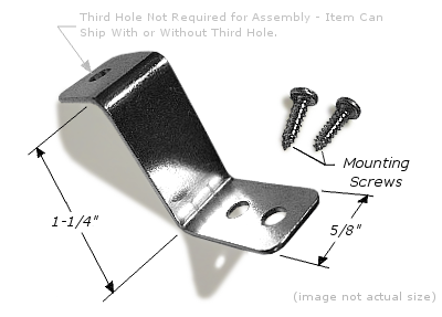 "Canvas Offset: 1-1/4"", 2x Mounting Holes, Corrosion Resistant Plated Steel OFFSET007"