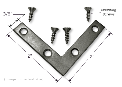 """Mending Plate: 2"""" x 2"""" x 3/8"""", Corrosion Resistant Plated Steel PLATE004"""