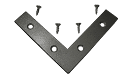 "Mending Plate: 3-1/2"" x 3-1/2"" x 3/4"", Corrosion Resistant Plated Steel PLATE005 preview image"
