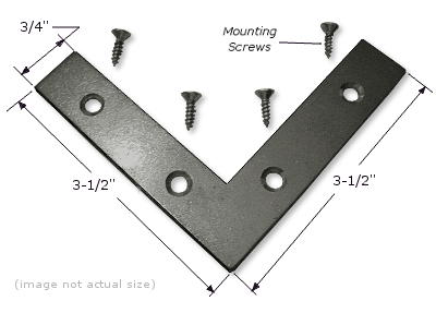 "Mending Plate: 3-1/2"" x 3-1/2"" x 3/4"", Corrosion Resistant Plated Steel PLATE005"