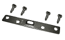"Super Steel Hanger: 4 Hole, 3-1/2"" Length, 1/2"" Wide, Corrosion Resistant Plated Steel, Maximum Hanging Weight: 30 lbs, SUPER-STEEL002 preview image"