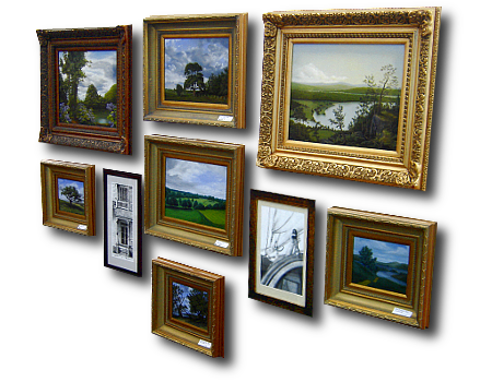 Promotional Graphic for Painting Frames Plus Ready-Made Painting Frames