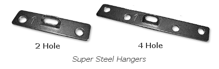 Super Steel Hangers come in various sizes